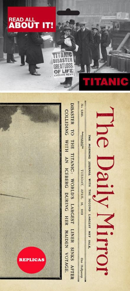 Titanic Newspaper- Replica
